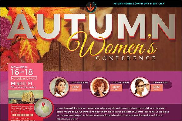 Autumn Women's Conference Flyer