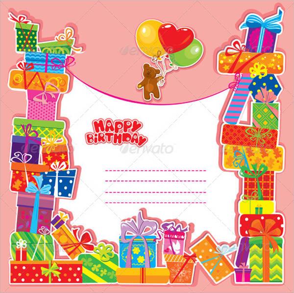 baby birthday gift card