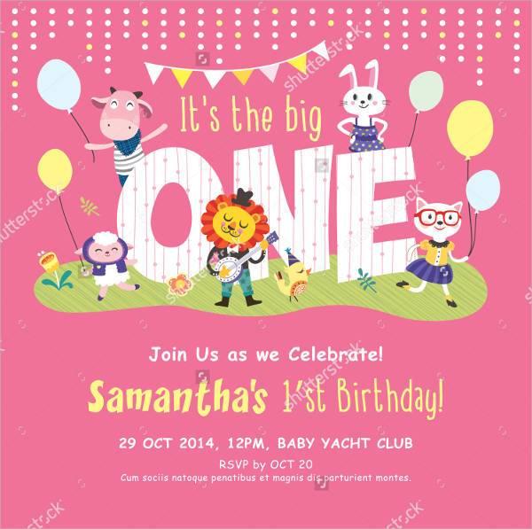 Baby Birthday Invitation Card