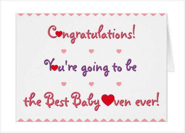 Baby Shower Congratulations Greeting Card