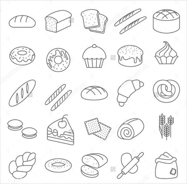 bakery vector line icon
