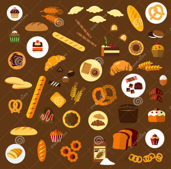 Bakery and Confectionery Icons