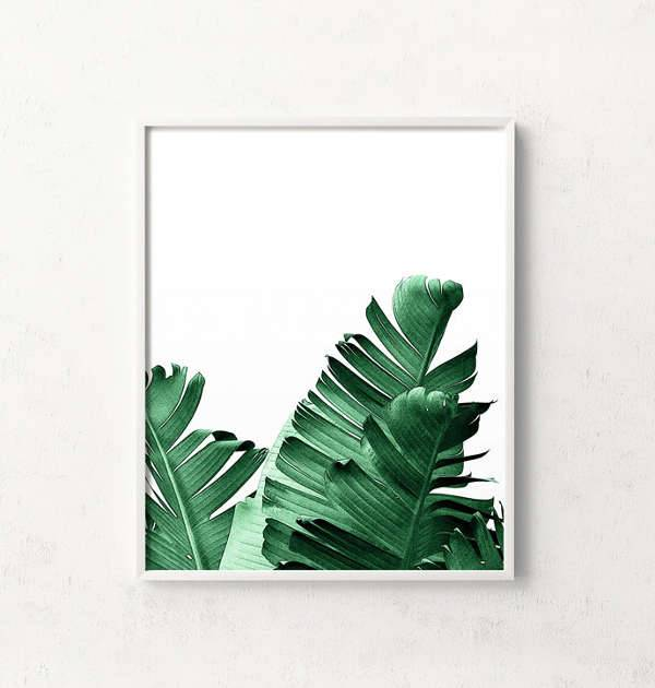 Banana Leaf Print Artwork