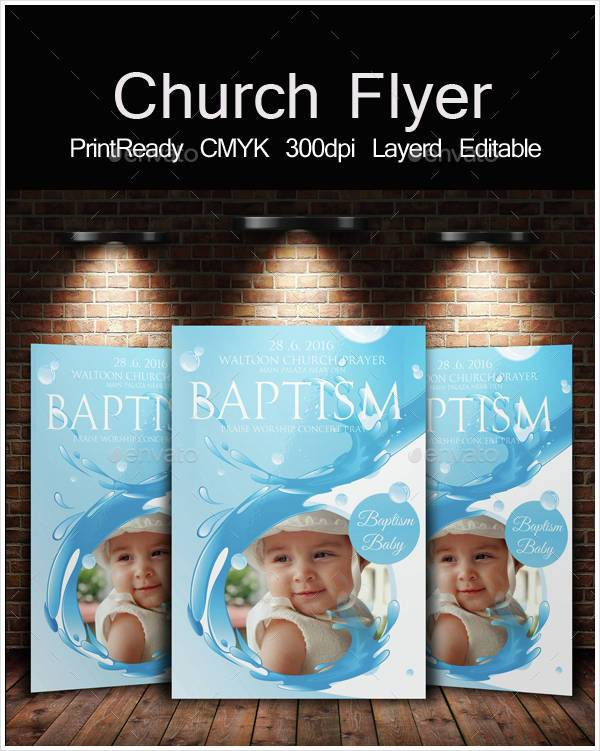 Baptism Church Invitation Flyer