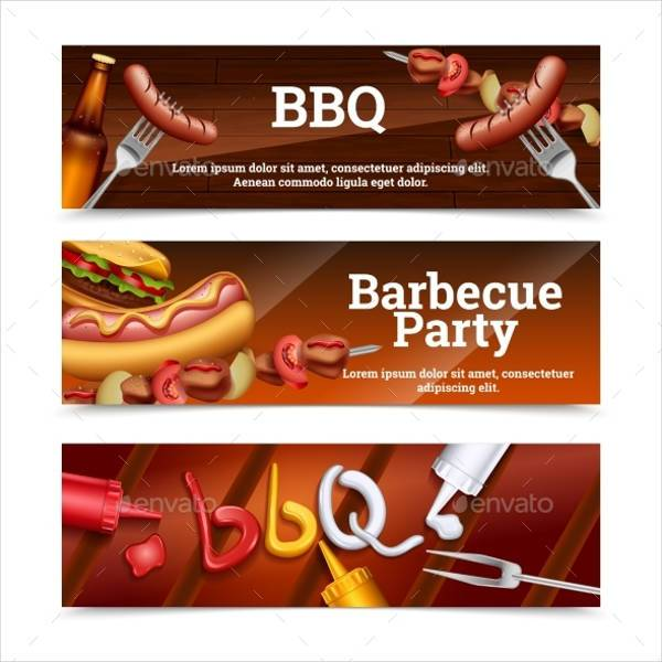 Barbecue Party Horizontal Banner