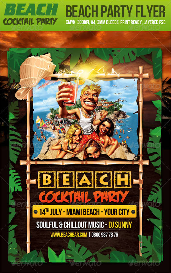 Beach Cocktail Party Flyer