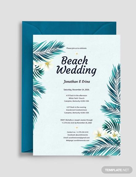 16  beach wedding invitations