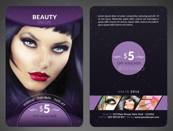 Beauty Salon Voucher Card