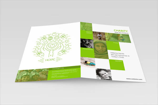bi fold a4 illustrator brochure