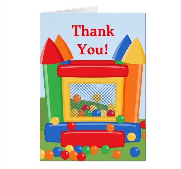Birthday Greeting Thank You Card