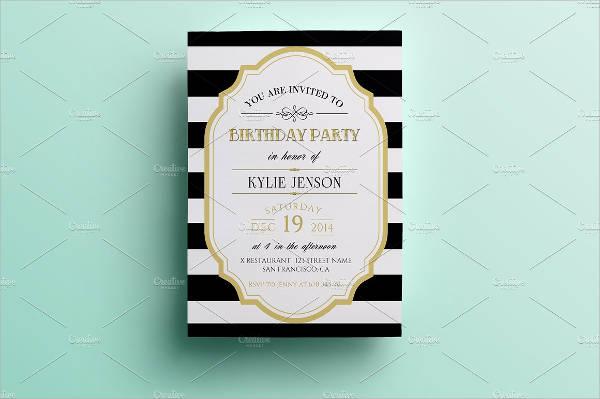 birthday party menu card psd