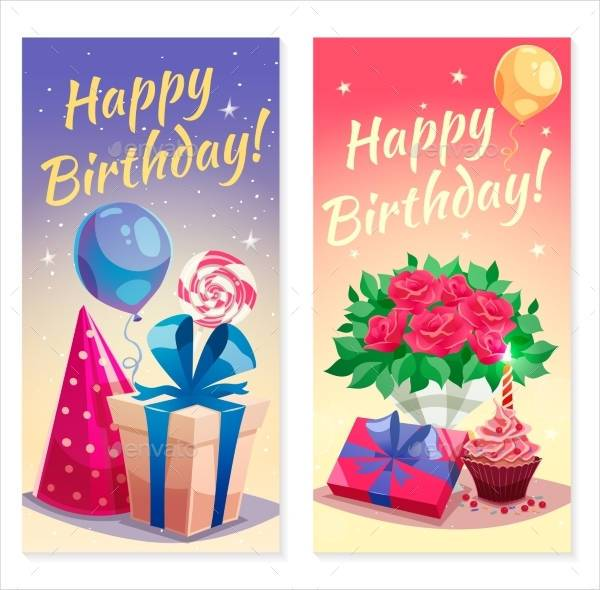 Birthday Party Vertical Banner