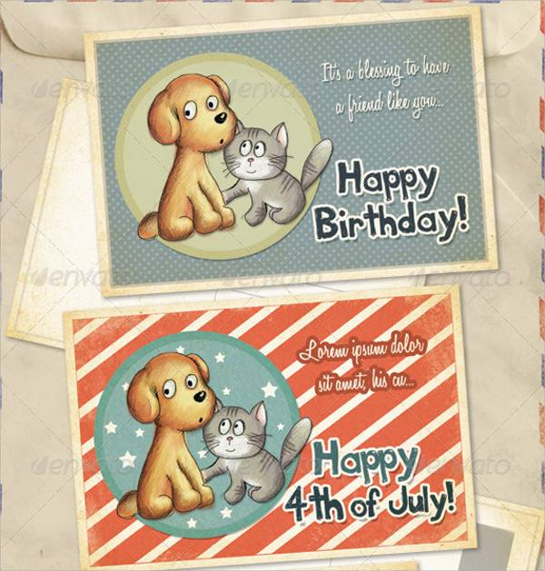 birthday thank you greeting card
