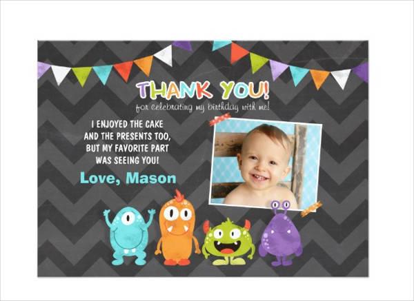 Birthday Thank You Invitation Card