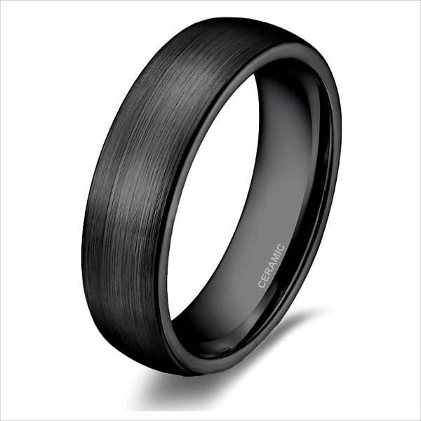 black band engagement ring
