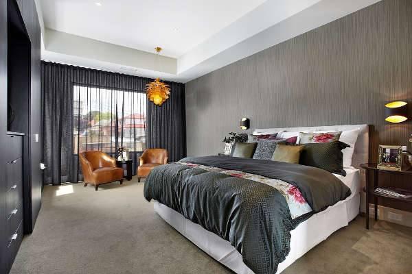 black bedroom curtains