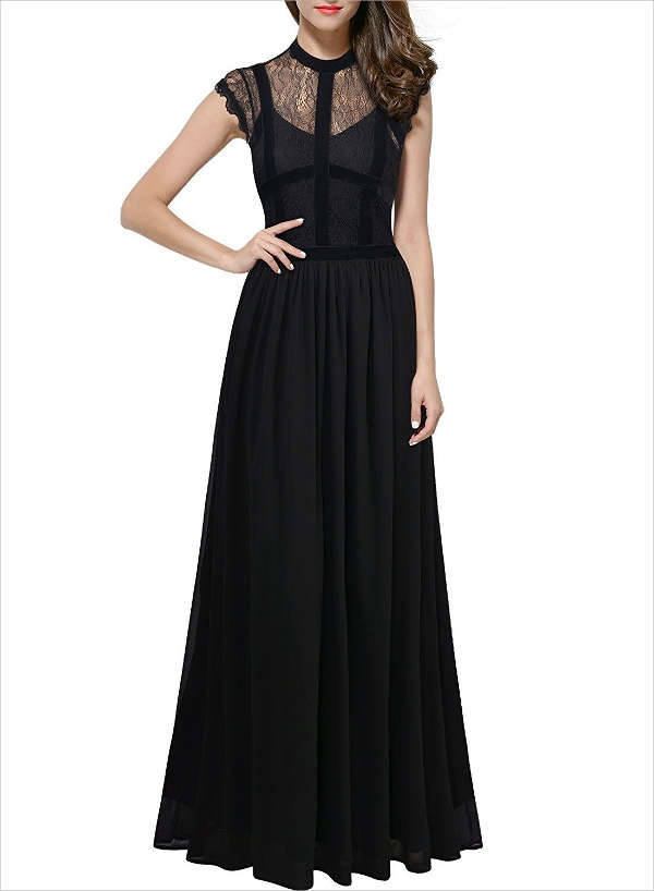 Black Prom Maxi Dress