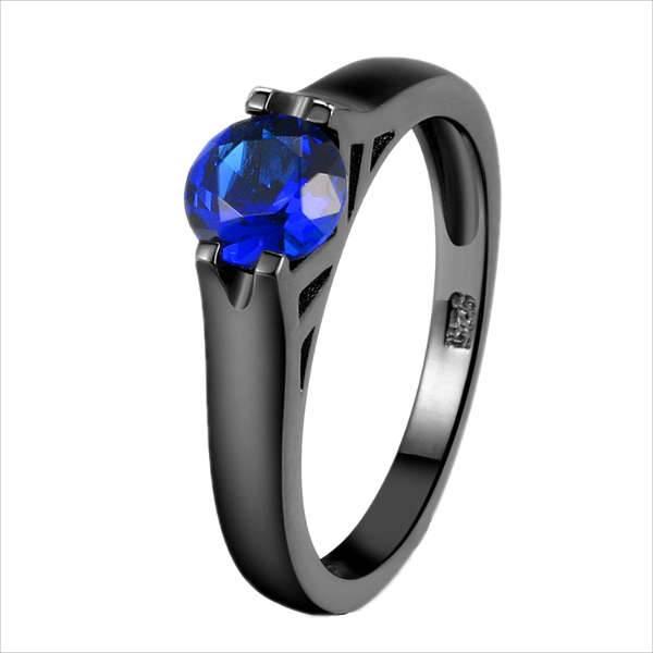black sapphire engagement rings