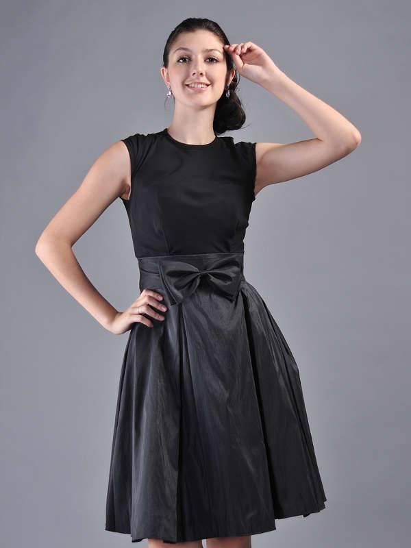 black satin bridesmaid dresses