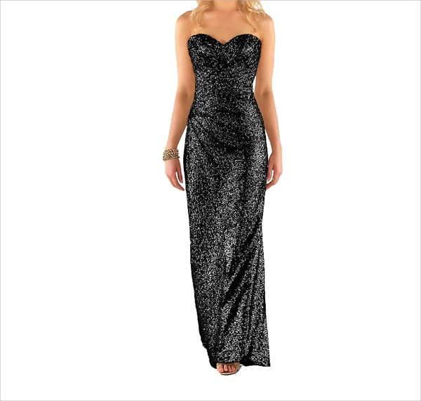 black sequin bridesmaid dresses