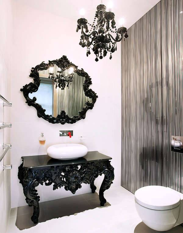 Black Vintage Mirror Design