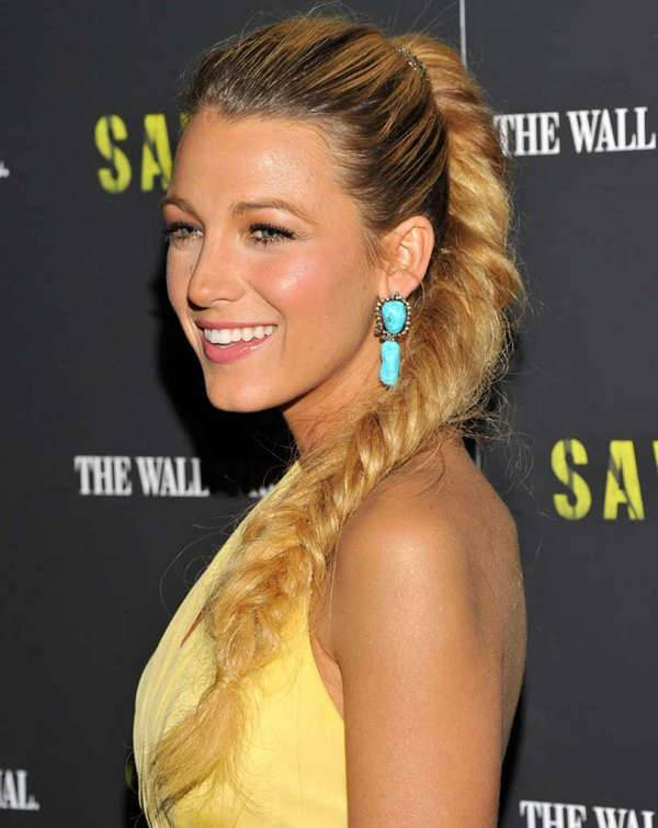 Blake Lively French Fish Braid Hairstyles