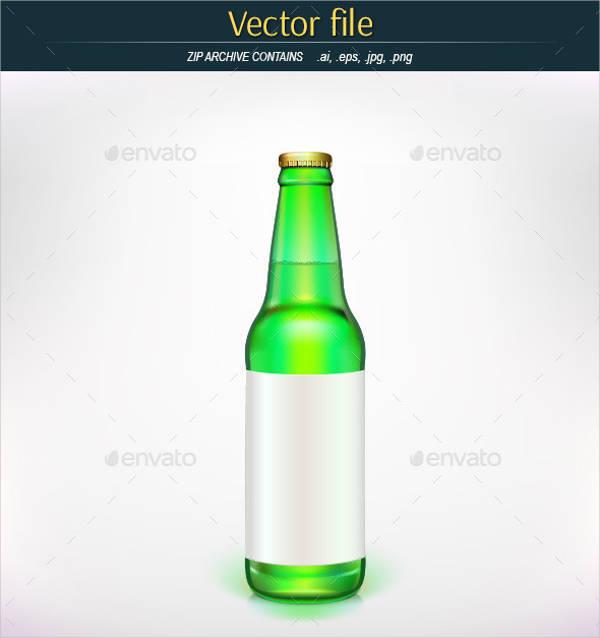 blank beer bottle label