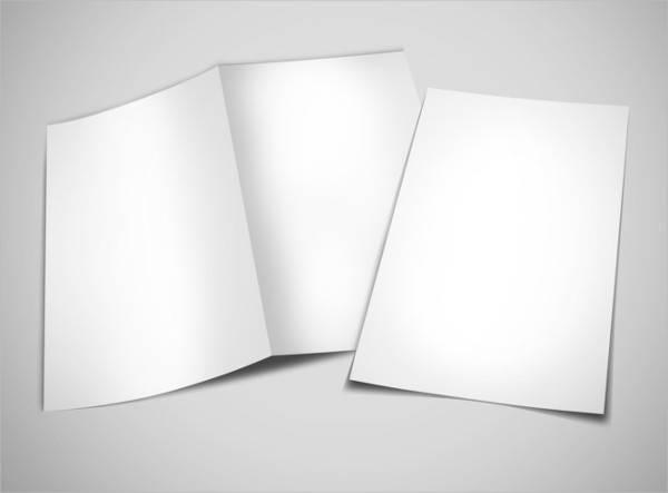 blank bi fold illustrator brochure