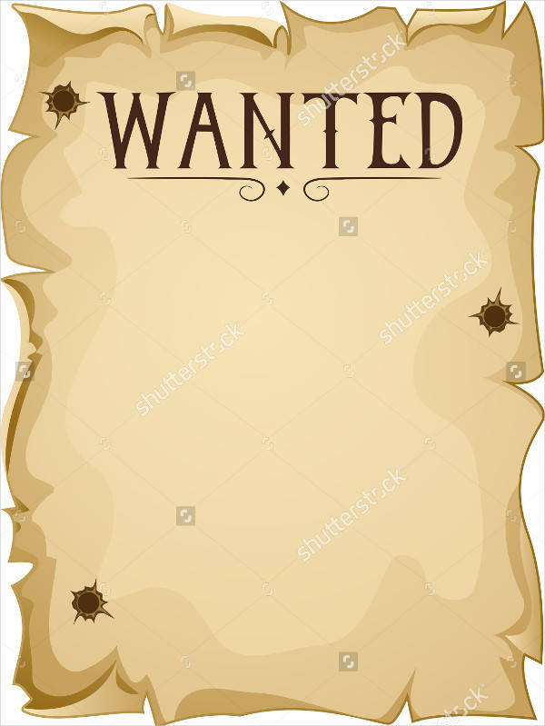 blank most wanted poster