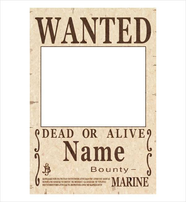 50 printable wanted poster templates free pdf psd designs wanted