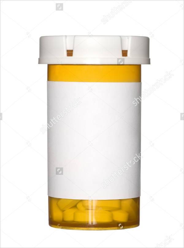 blank pill bottle label