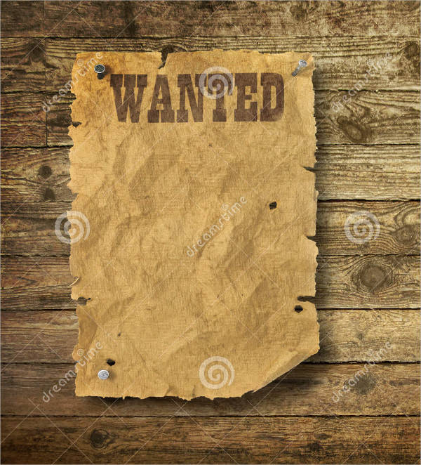 blank wild west wanted poster