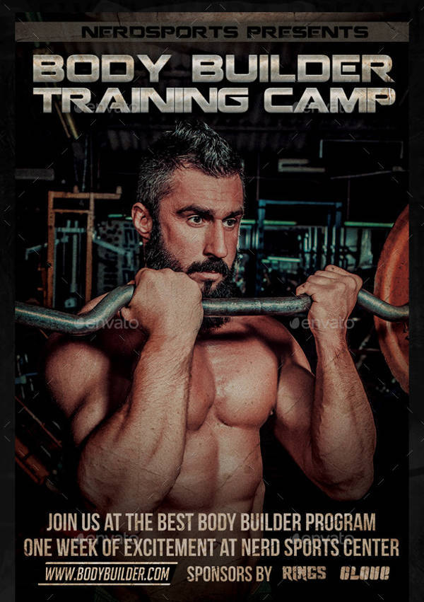 Body Builder Training Camp Sports Flyer