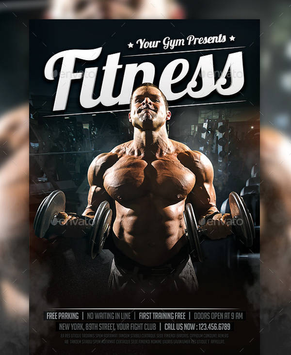 Bodybuilding Fitness Sports Flyer