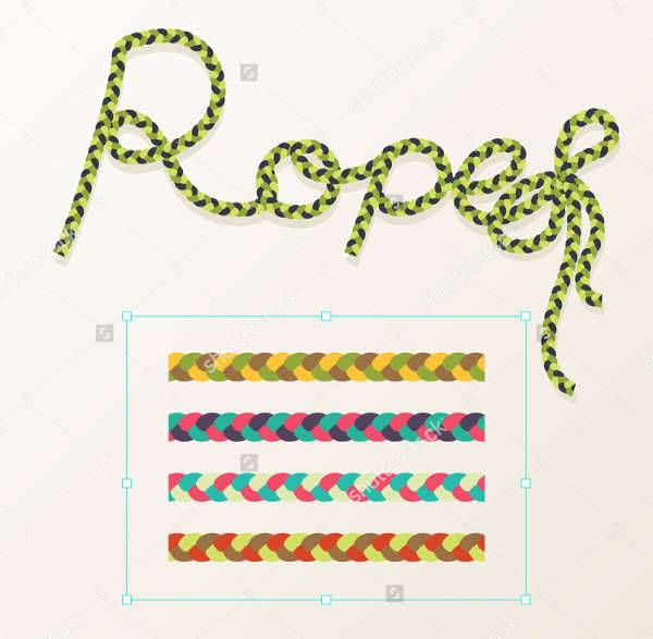 Braided Rope Photoshop Brushes