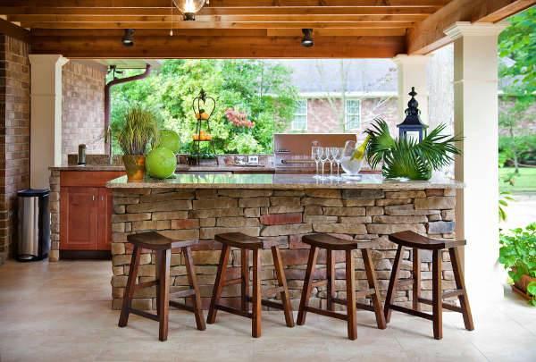 Brick Patio Bar Design