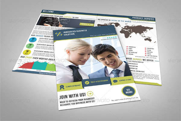 Business Marketing Service Half Fold Brochure