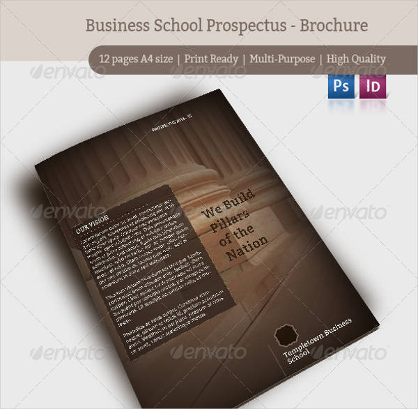 Business School Prospectus Brochure