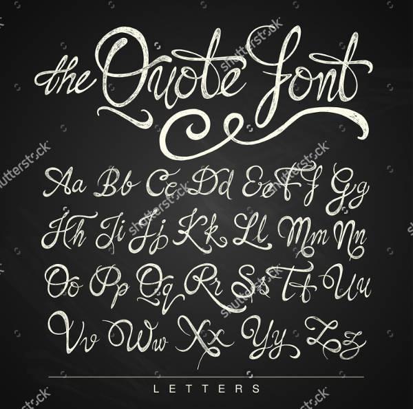 Calligraphy Typography Alphabet Font