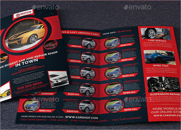 Car Dealer & Auto Services Bifold Brochure