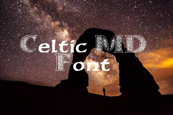 celtic gothic calligraphy font