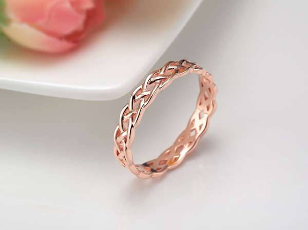 Celtic Rose Gold ring