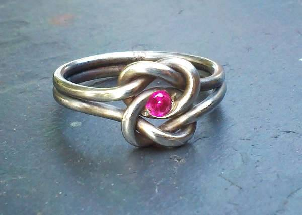 celtic ruby engagement ring