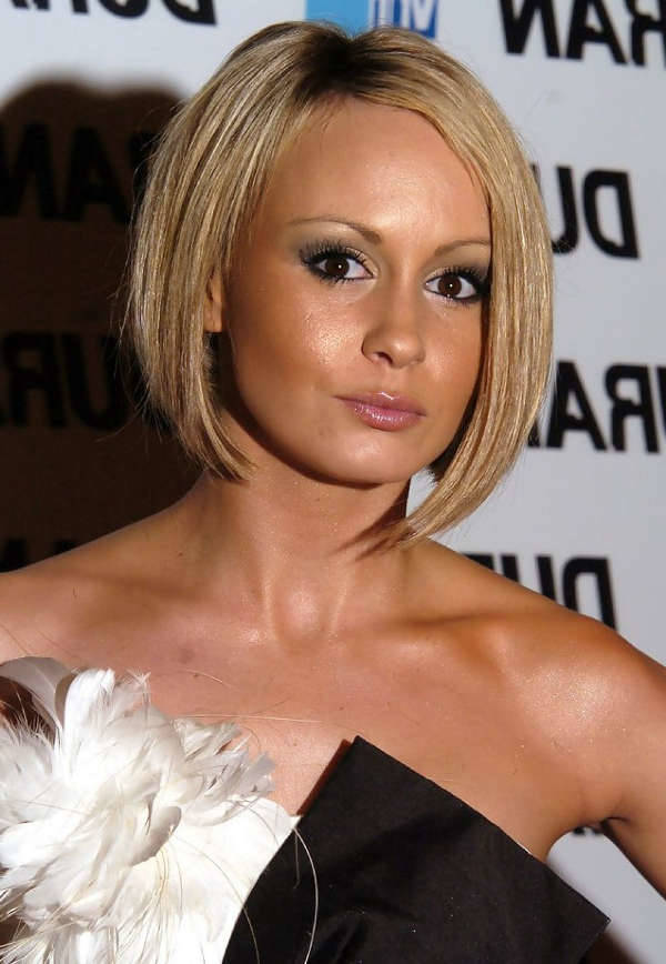 Chanelle Hayes Inverted Short Bob Haircut