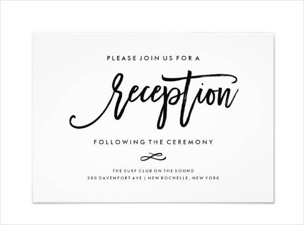 Chic Reception Invitation Card