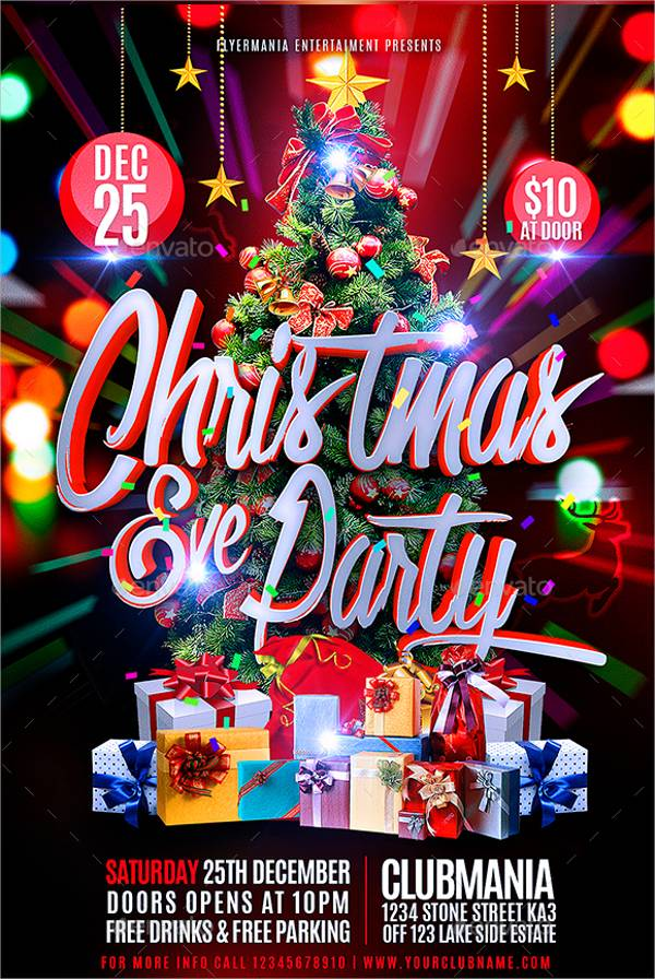 Christmas Eve Party Flyer