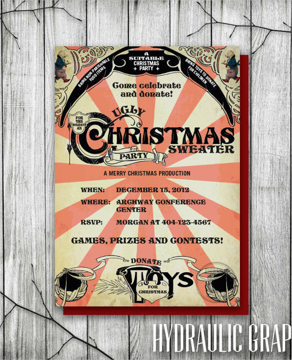 Christmas Event Invitation Card