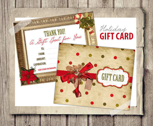 Christmas Holiday Gift Card