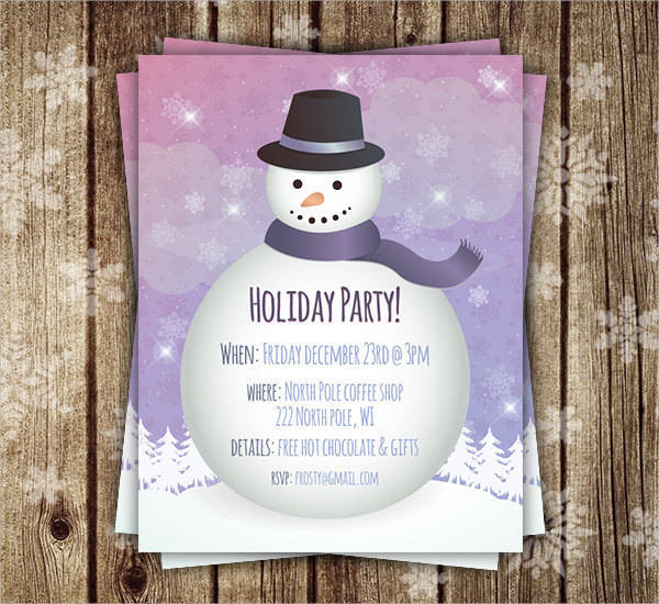 Christmas Holiday Invitation Flyer