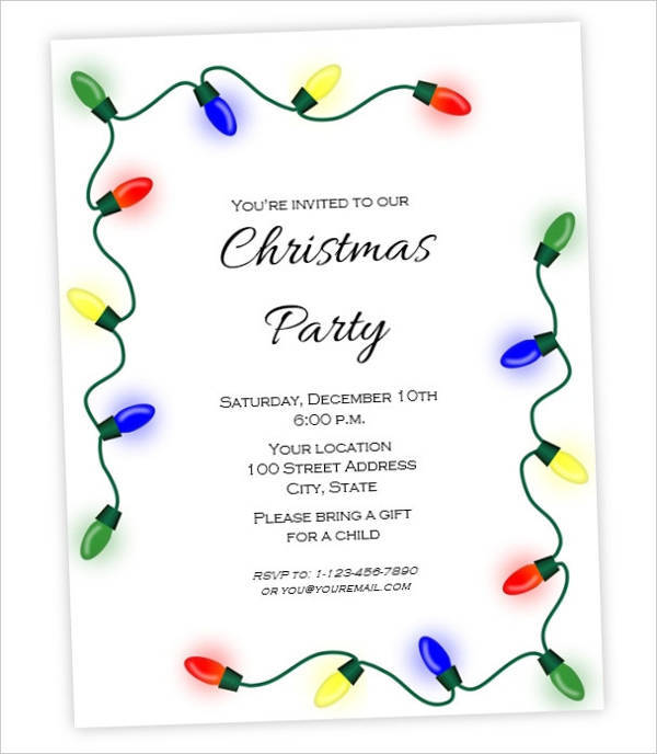 Christmas Holiday Party Invitation Flyer